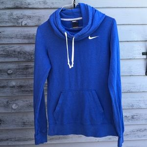 Woman's Blue Nike pullover hoodie - Size XS